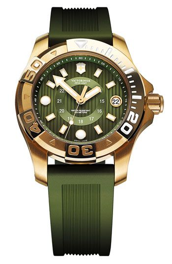 Victorinox Swiss Army® 'Dive Master' Round Rubber Strap Watch | Nordstrom