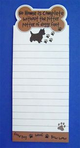 Westie Silhouette Magnetic Note Pad