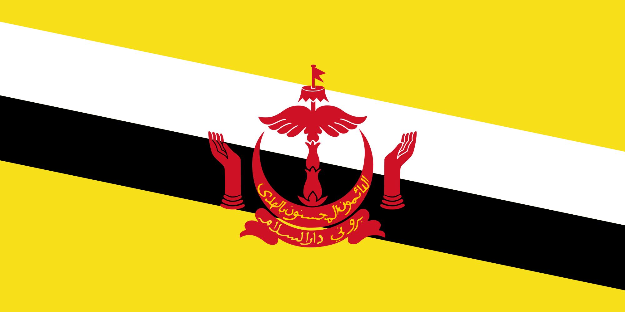 Brunei Flag Bruneiflight Dot Com Bendera Brunei Darussalam Kalimantan
