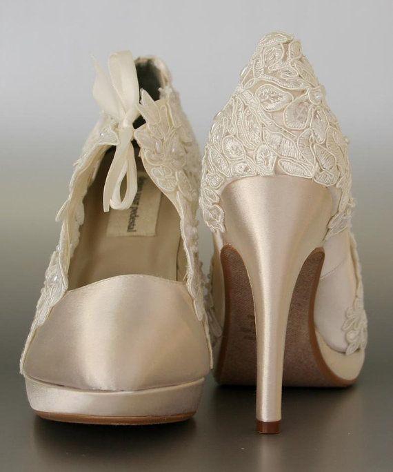 Chaussures de mariageChampagne mariage par EllieWrenWeddingShoe