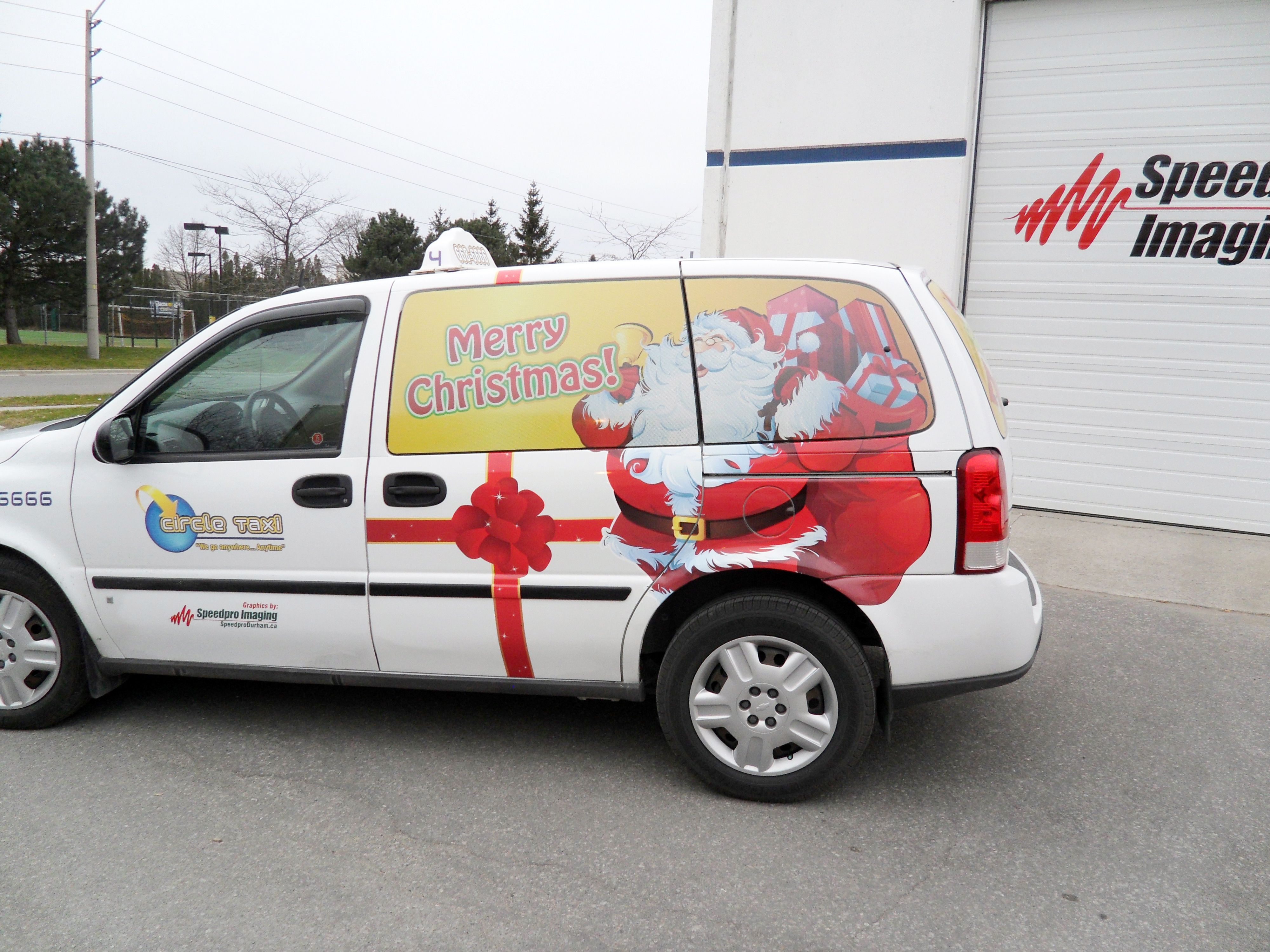 Awesome van wrap done by the speedpro imaging oshawa durham location for circle taxi vehicle