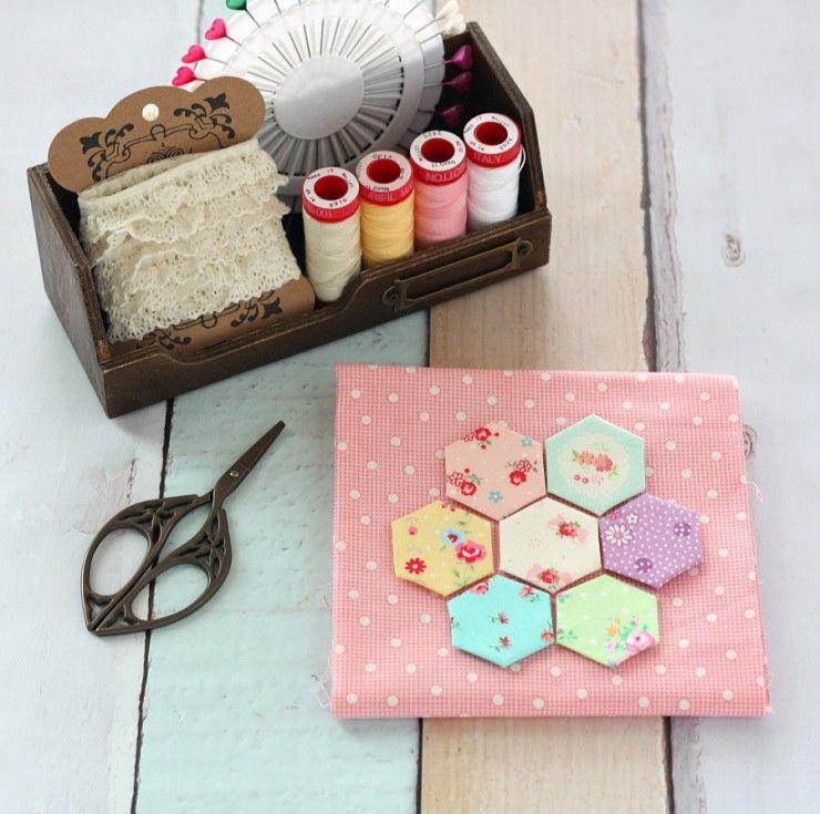 Hexagon Pincushion - A Spoonful of Sugar