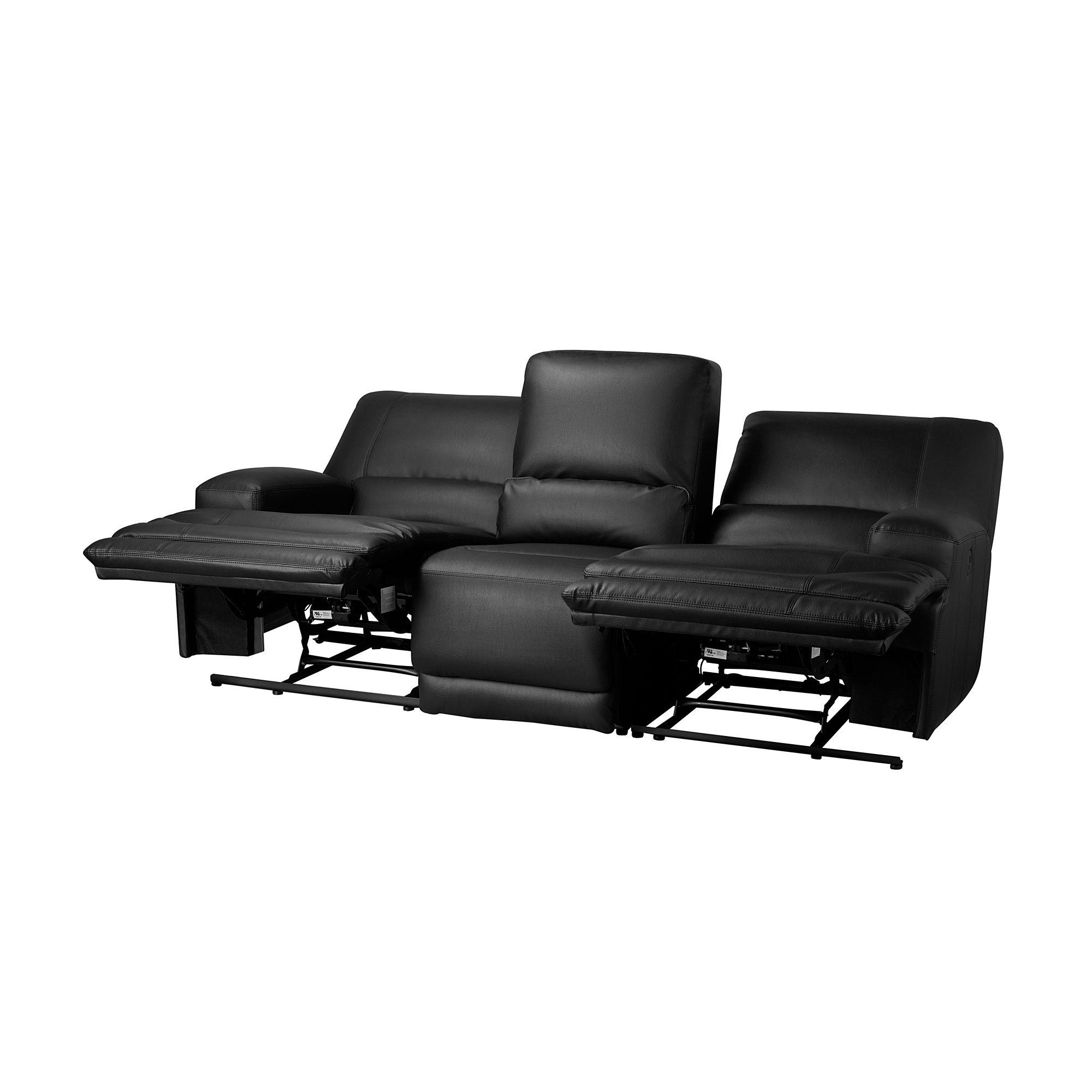 IKEA VÄNNÄS Sofa with adjustable seat/back Murum black