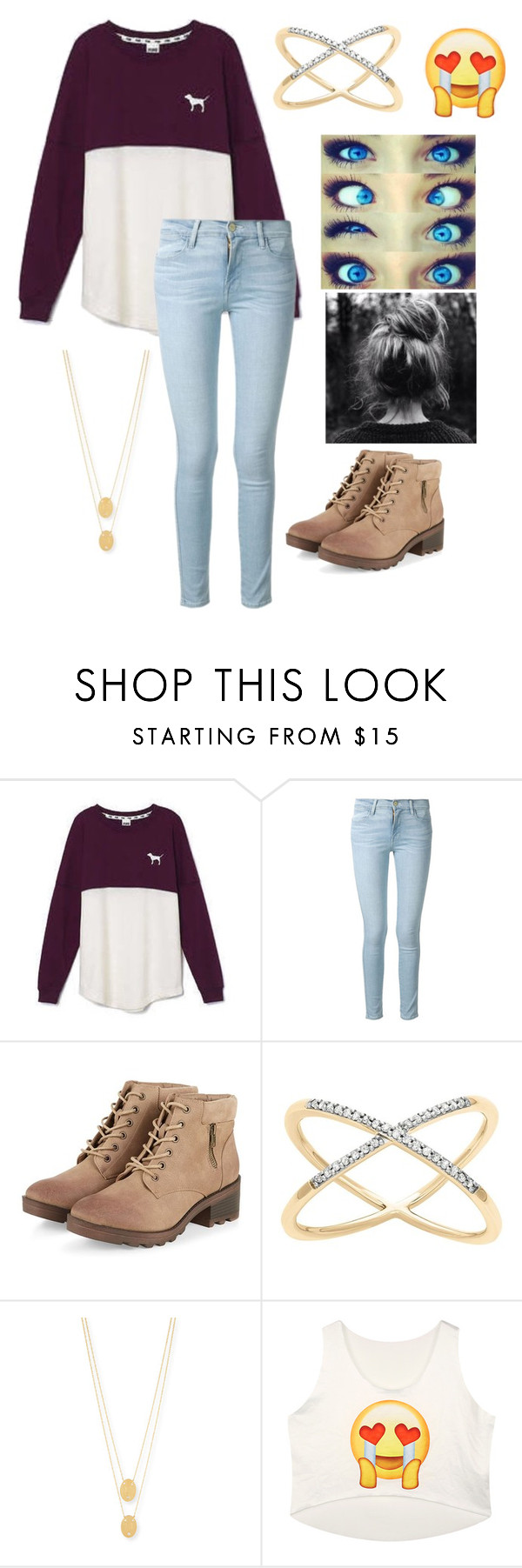 """""""Untitled #100"""" by sunnybrown ❤ liked on Polyvore featuring Victoria's Secret, Frame Denim and Jennifer Zeuner"""
