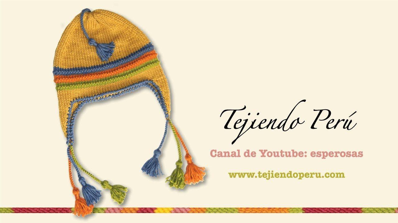 Aguja circular: tejiendo un chullo (Parte 2)   manual lana   Pinterest