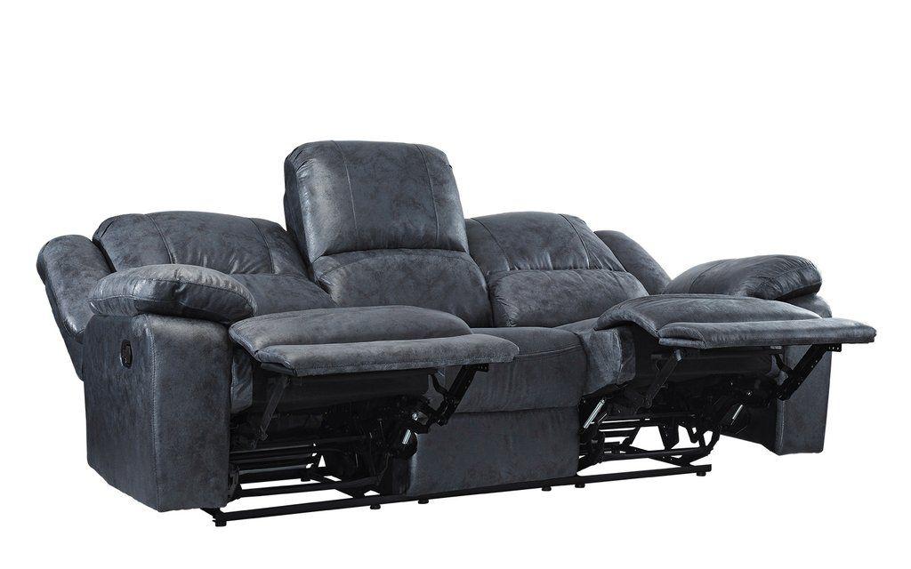 jerome overstuffed living room recliner sofa  living room