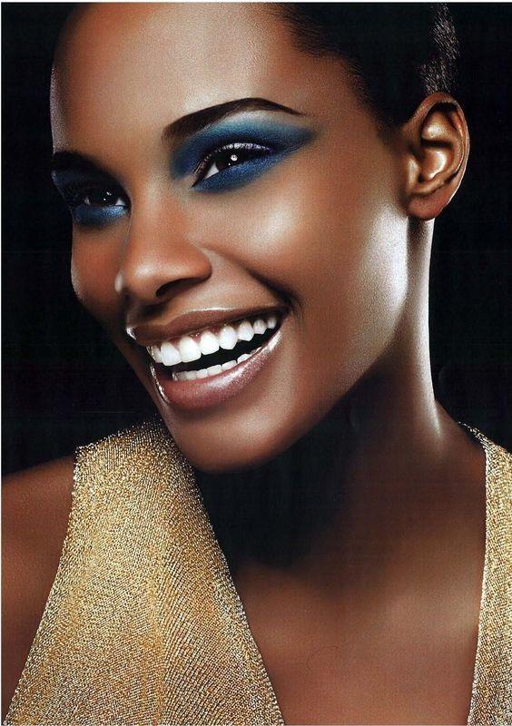 Black Women Makeup Tips For Dark Skin - Copper Eyes & Nude Lip Makeup