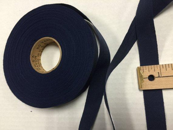 "10 yard 5//8/"" green tan vtg cotton rayon petersham grosgrain ribbon millinery"