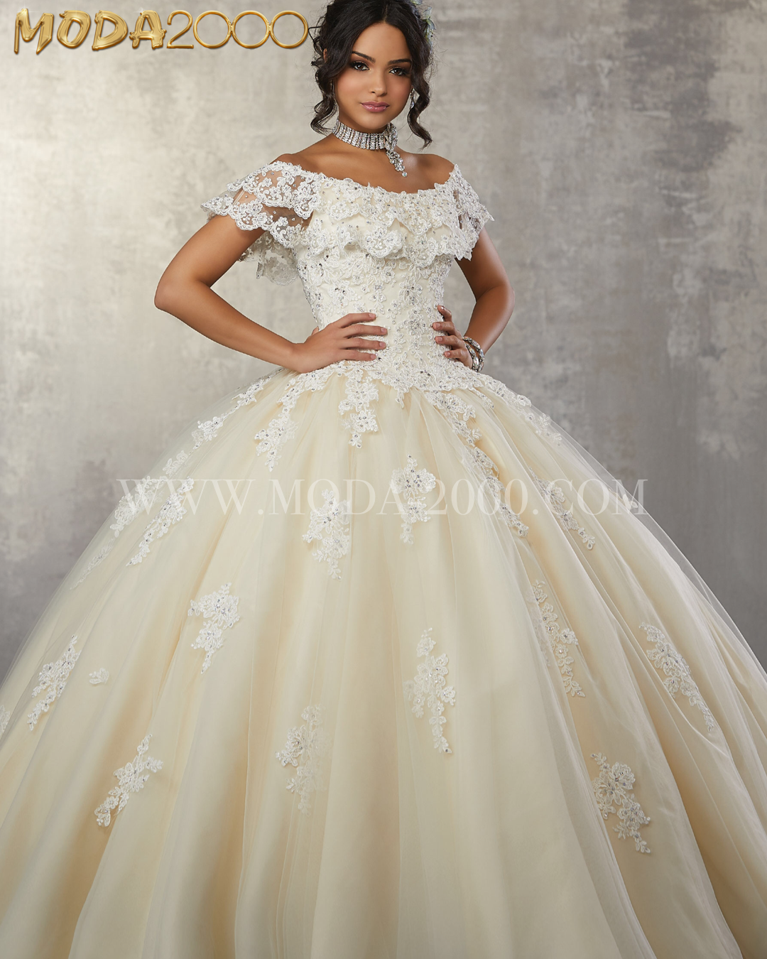 e792c1a20d7 Off the shoulder laced quinceañera dress. Simple charro quince dress✨  Available at Moda 2000! Instagram  moda2000inc