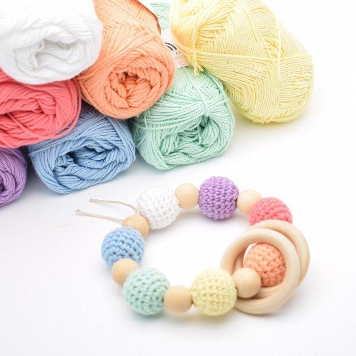 Rainbow rattle Rainbow, Rainbow colors, Wooden beads