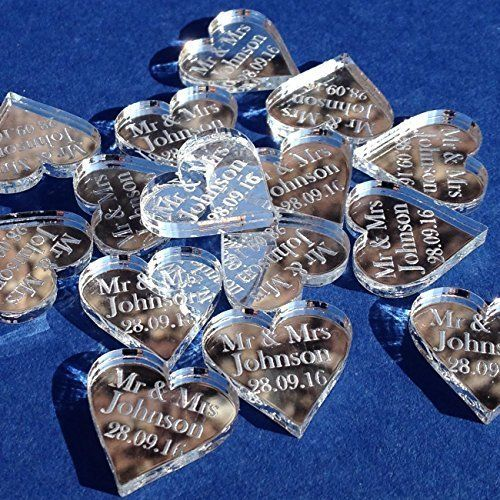 50 small 2cm personalised lucky love hearts bridal wedd https 50 personalised mr mrs love hearts wedding favours table confetti decorations in home furniture diy wedding supplies centerpieces table decor junglespirit Image collections