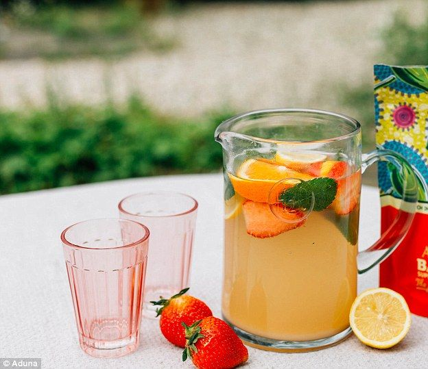 Baobab Summer Fruits Spritzer - get recipe here: http://www.dailymail.co.uk/femail/food/article-3791416/How-make-Duchess-Cambridge-s-baobab-smoothie.html