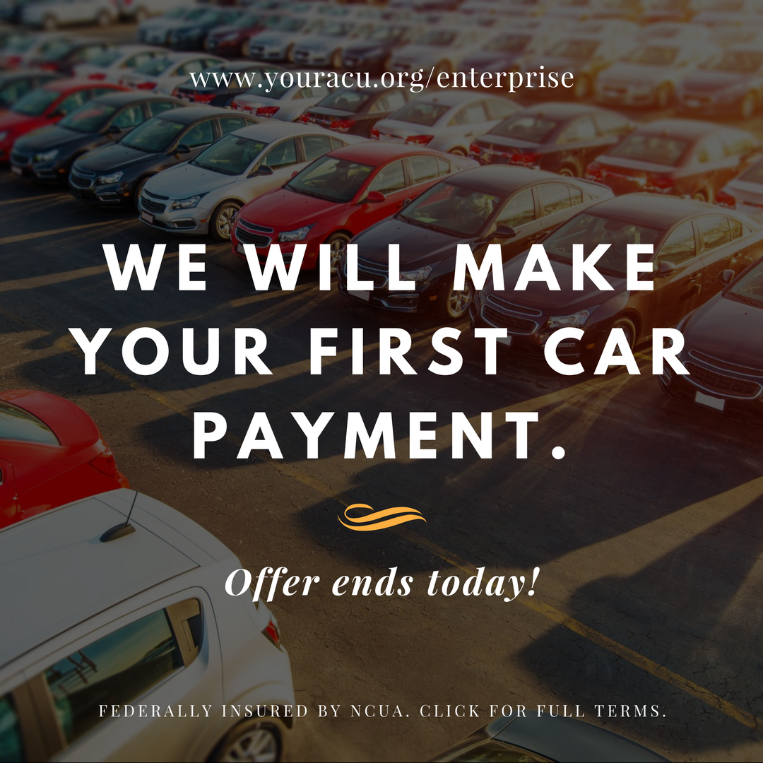 When you purchase your #Enterprise Car with an #AutoLoan from #ACU ...