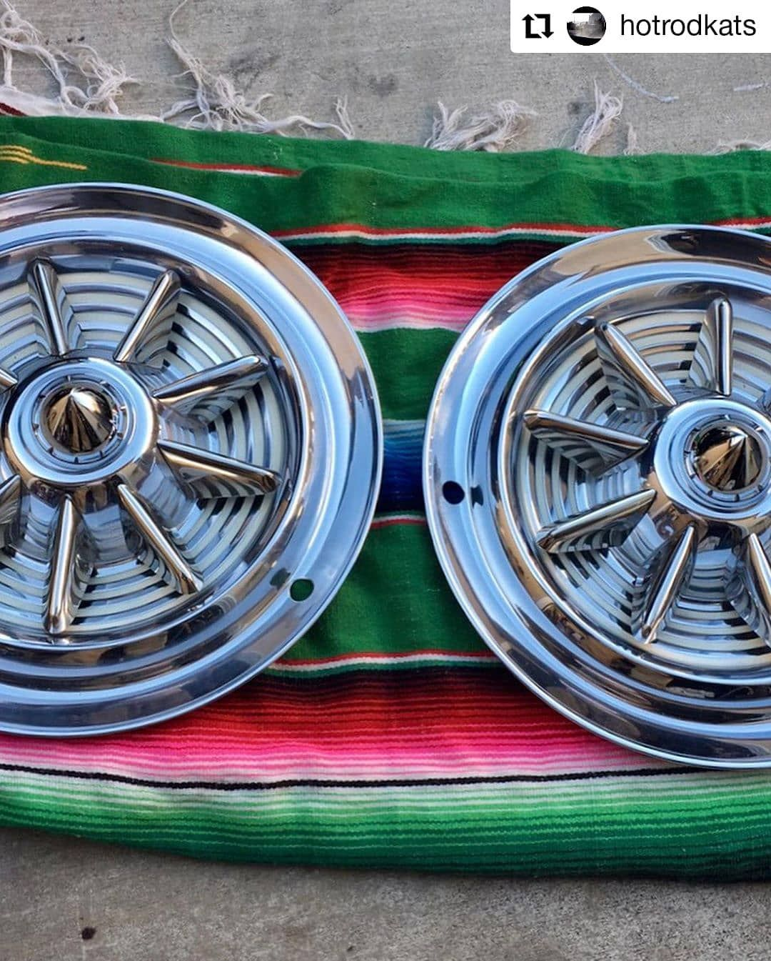 Repost Hotrodkats For Sale 1953 Oldsmobile Fiesta Hubcaps 15 One Tiny Dent Overall Good Condition 550 Shipping Item Car Wheel Oldsmobile