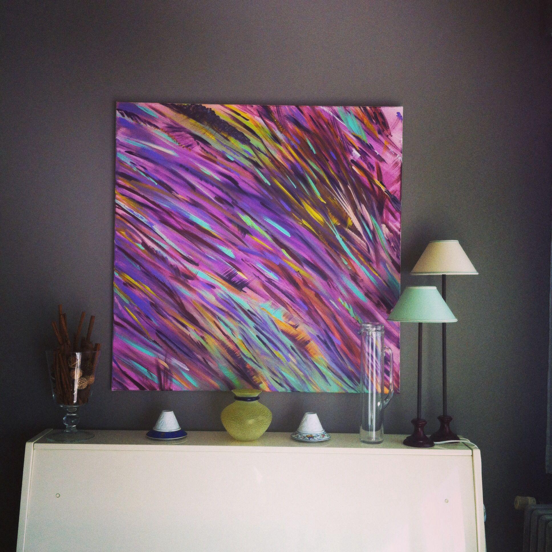 Art peinture acrylique contemporain peinture pinterest for Peinture acrylique