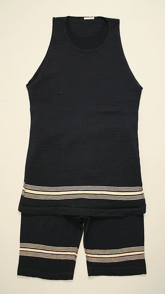 0d4d1ac77a Wool two-piece bathing suit - ca. 1911 Mens Bathing suits are similar to  this in Ruddigore. For Orpheus