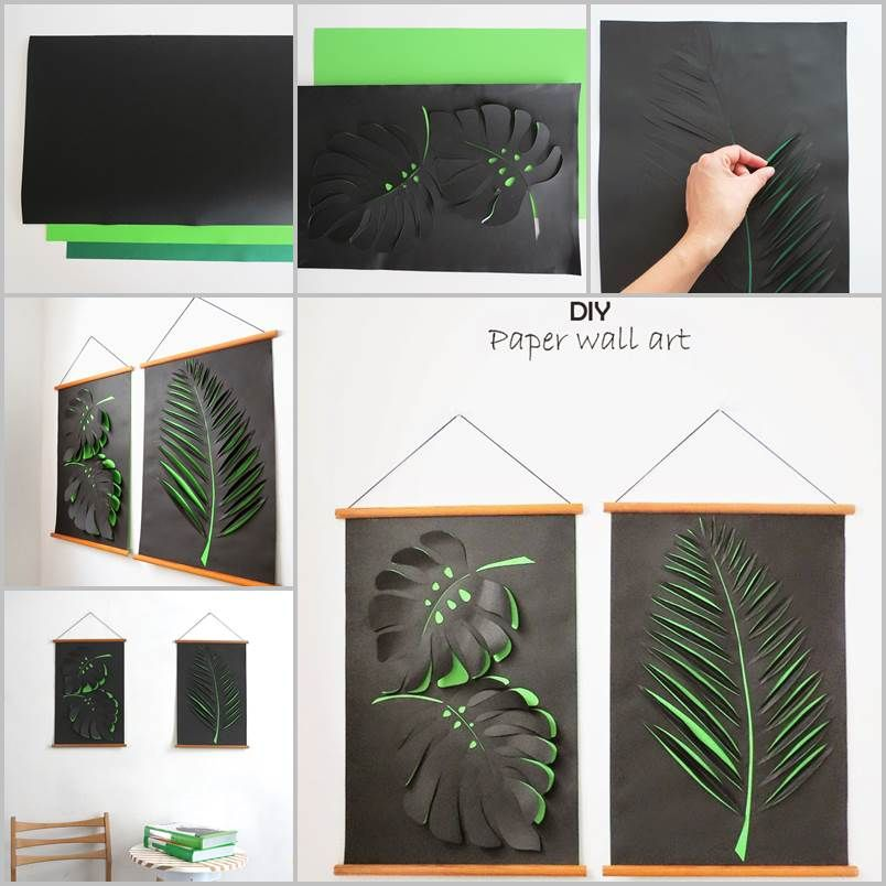 Creative Ideas   DIY Paper Leaf Wall Art