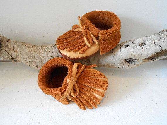 b26effbbc7351 Baby Moccasins, Infant Booties, Leather Baby Shoe, Handmade ...