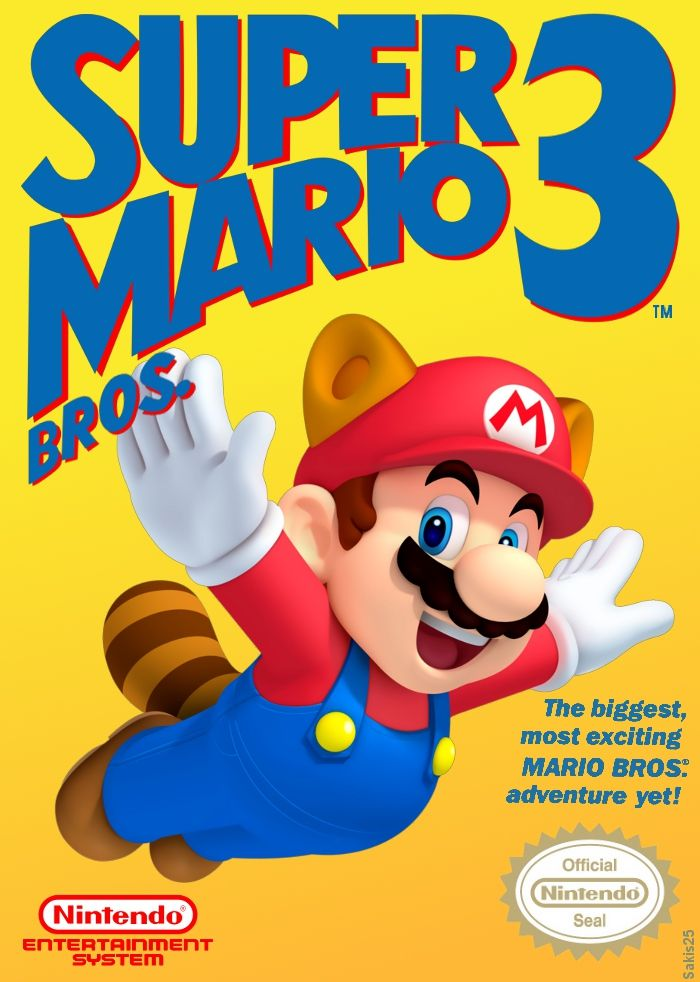 The Classic Box Art From Super Mario Bros 3 With The Modern 3d Artwork From New Super Mario Bros 2 Super Mario Bros 3 Raccoon Mario Mario Bros Super Mario