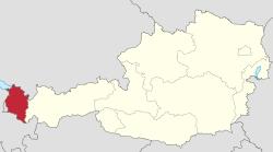 Location of Vorarlberg