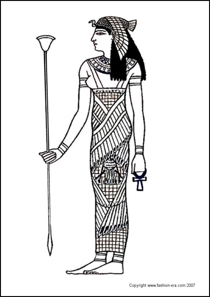 fashion coloring pages  The ancient Egyptians worshipped a range