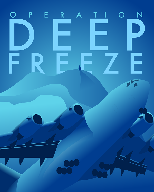 Operation Deep Freeze C17 poster Aviation posters, Deep