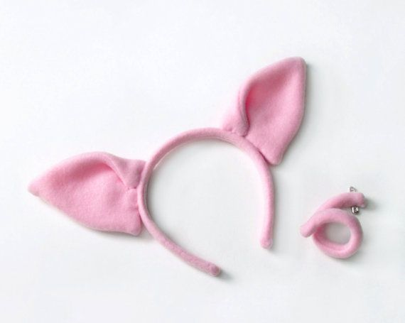 Pig costume set ears and a tail pig costumes costumes and pig costume set ears and a tail by lolicrafts on etsy pronofoot35fo Images