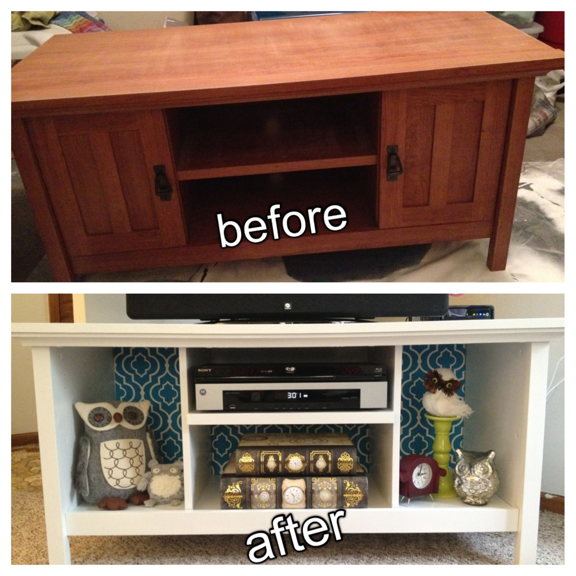 TV stand remodel. Reclaimed FurnitureRecycled ...