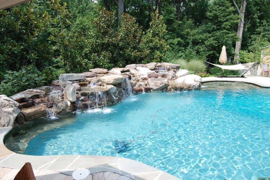Pools With Waterfalls backyard pool ideas | pool designs for two shape combination pool
