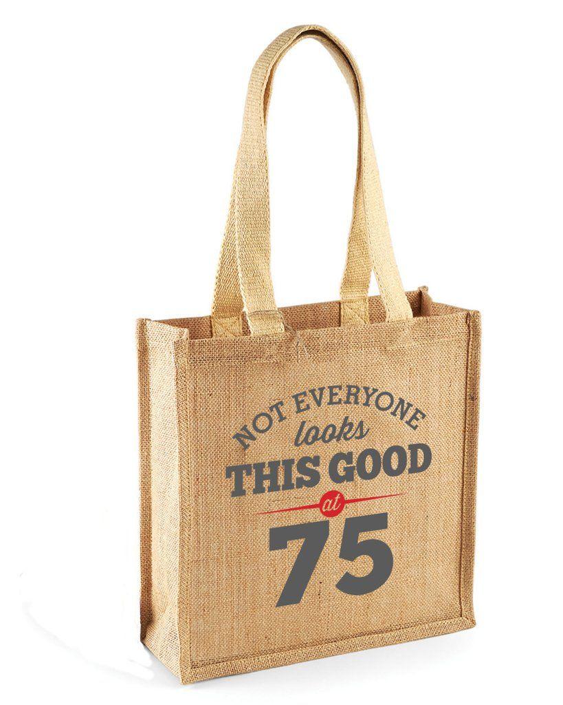 75th birthday bag gift womens bag ladies shopping bag