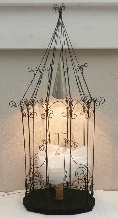 Tischlampe aus Draht wire lamp with ballerina | KUNST aus DRAHT ...