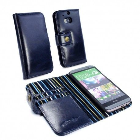 HTC One M8 Alston Craig Nahkakotelo – Royal Blue  http://puhelimenkuoret.fi/tuote/htc-one-m8-alston-craig-nahkakotelo-royal-blue/