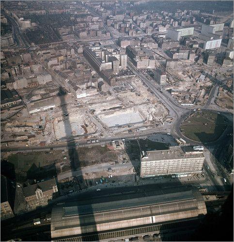 Alexanderplatz In Aanbouw 1967 Berlin Berlin Geschichte Ddr