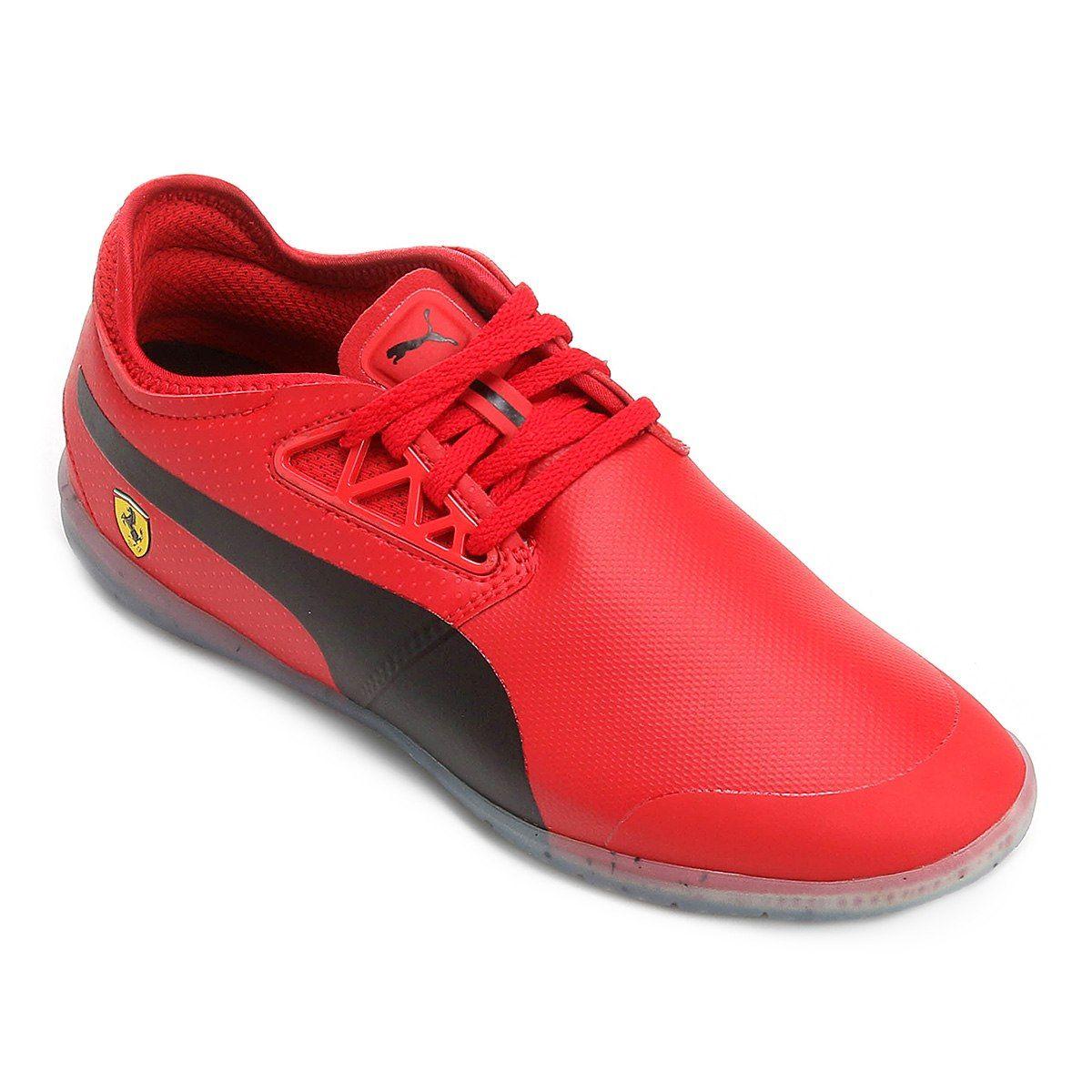 f068e530025 Tênis Puma Scuderia Ferrari Changer Ignite Masculino - Vermelho e Preto