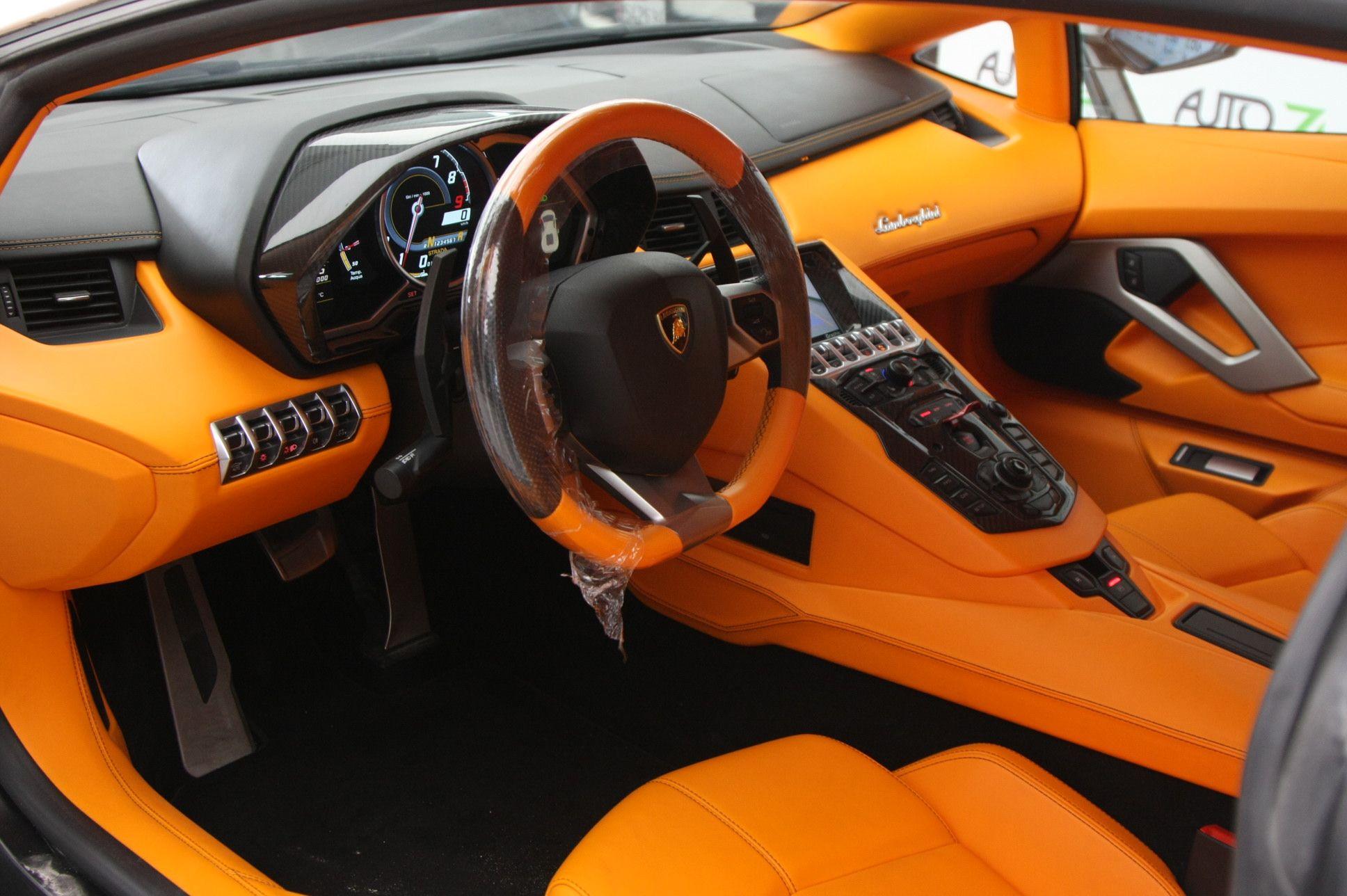 Lamborghini Aventador orange and black arancia interior | Auto ...