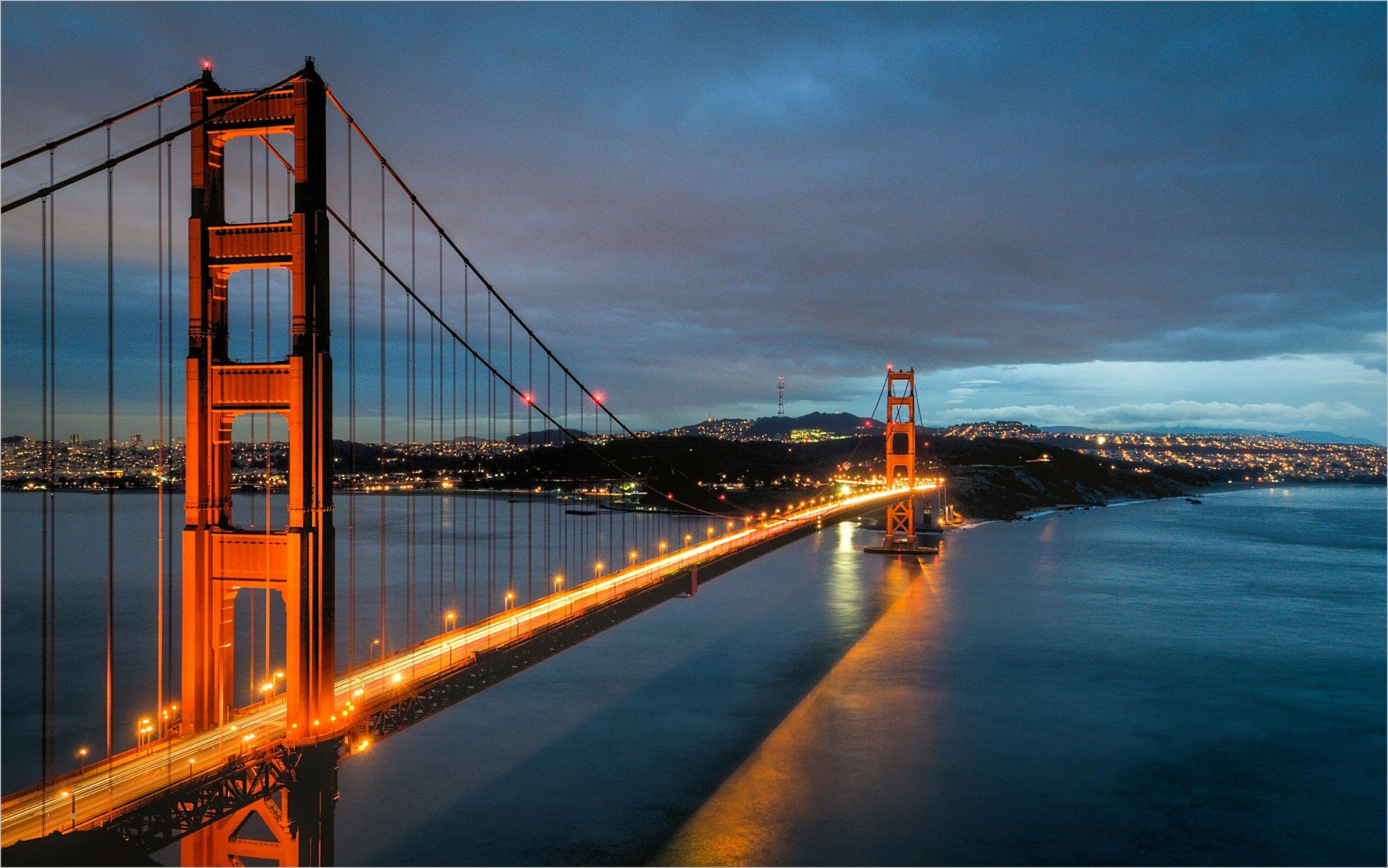 4k Wallpaper Blue Bridge Light Dark In 2020 Golden Gate Bridge Wallpaper Bridge Wallpaper Golden Gate Bridge