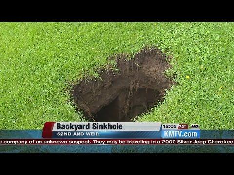 Update On Sinkhole In My Backyard.   YouTube