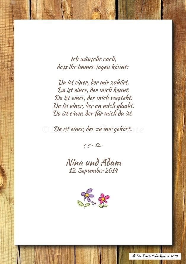 Druckwandbildprint Segenswunsch Hochzeit