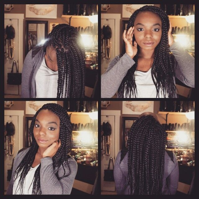 Box braids. YouTube tutorial coming soon.  Make sure to subscribe to YouTube.com/mizzmyishabeauty so you don't miss the video :)