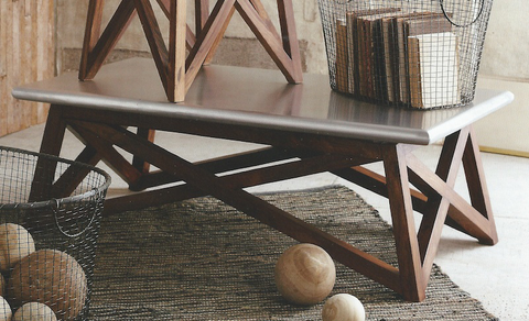 Roost Recycled Wood Console Railroad Ties Furniture Collection