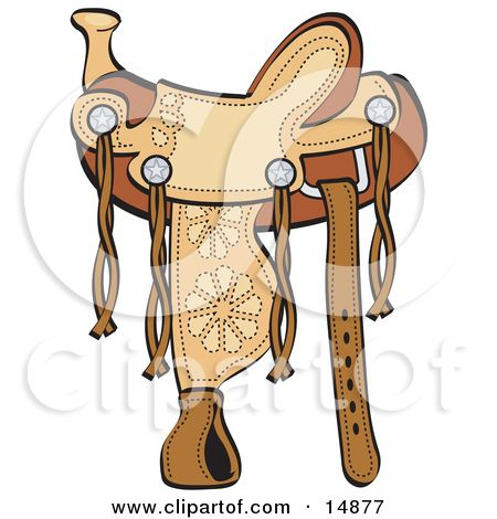 colorful pictures of western saddles royalty free rf horse rh pinterest com Horse Saddle Drawing Back On Horse with Saddle Coloring Pages
