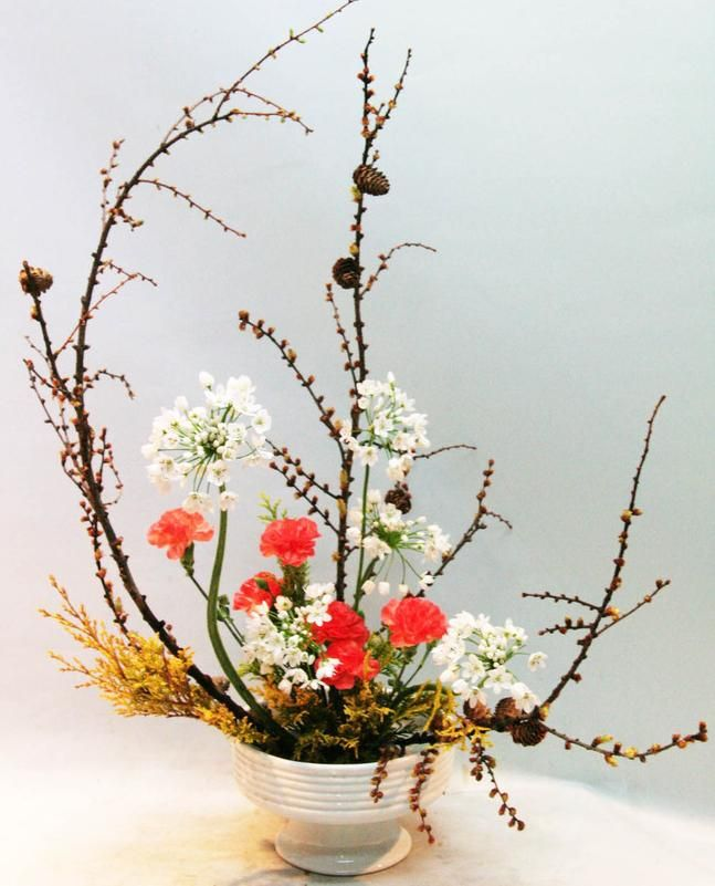 Beautiful japanese flower arranging picture classic
