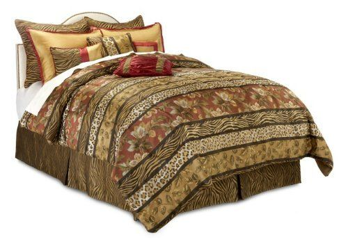 Highgate Manor Serengeti 10-piece Comforter Set Bedding Queen Size Color: Burgandy by Highgate Manor Serengeti. $99.95. Shams provide a layered look. 10-piece ensemble. Decorative pillows enhance the feel. Offers ample decorating flexibility. Highgate Manor Serengeti 10-piece Comforter Set If spicy is welcomed in your bedroom, then introduce this ensemble and stir up some interest. An explosion of designs and luscious hues offers an exotic flair without going over the...