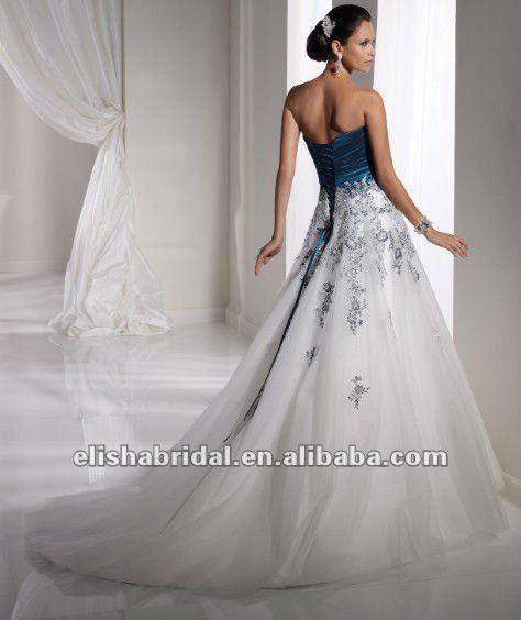 b7708f2f1534 abito da sposa bianco e blu - Cerca con Google