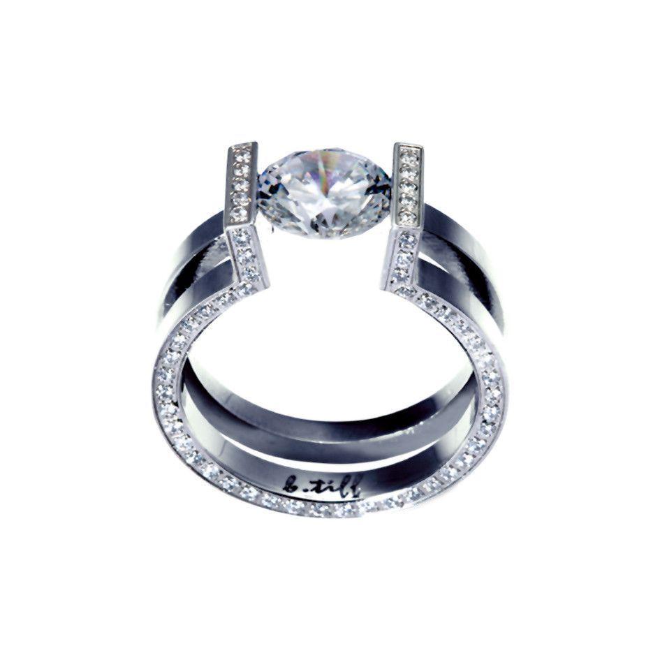 Rg108w B Tiff 2 Ct Round Solitaire Interlocking Engagement Ring Engagement Rings Perfect Engagement Ring Rings