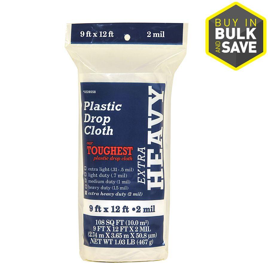 Plastic 9 Ft X 12 Ft Drop Cloth Lowes Com Drop Cloth Plastic Drop Cloth How To Make Paint