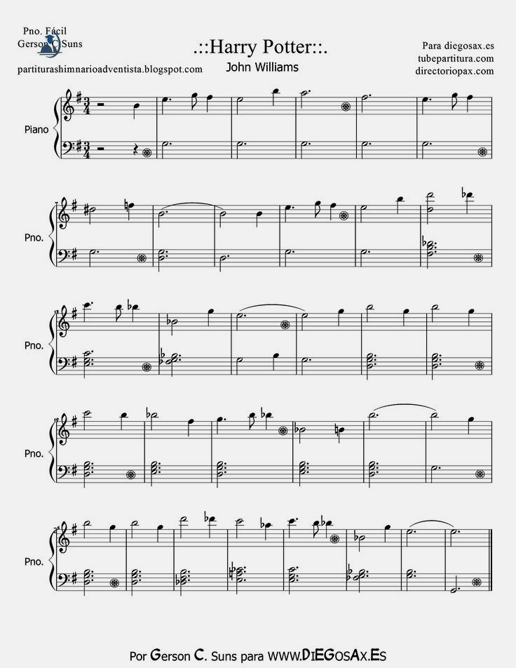 Harry Potter Sheet Music For Easy Piano By John Williams Harry Potter Theme Music Score For Piano Beggin Easy Sheet Music Violin Sheet Music Piano Sheet Music