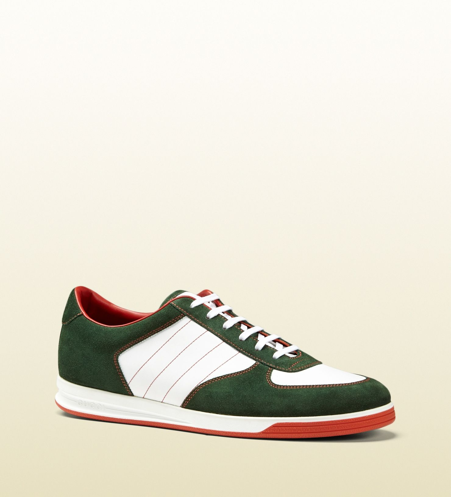 0e0cae3be0f Gucci - 353423 CKKP0 3066 - 1984 low top sneaker in suede - the 1984  collection celebrates the anniversary of the classic low top sneaker green  suede with ...