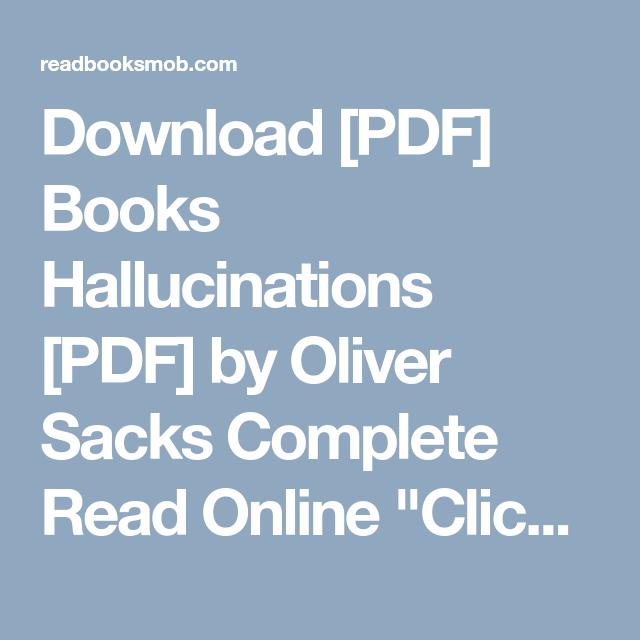 download pdf books hallucinations pdf by oliver sacks complete