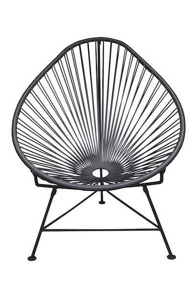 Innit Designs Acapulco Lounge Chair, Black or White Frame ...
